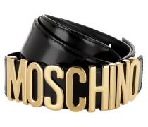 Belt Logo Black/Gold Gürtel