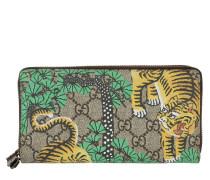 GG Tiger Zip Around Wallet Beige / Ebony braun