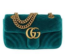 GG Marmont Velvet Mini Bag Petrol Tasche