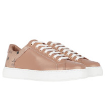 Sneakers Lace Up Champagne Gold