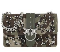 Love Camouflage Strass Crossbody Bag Salvia Argento Tasche