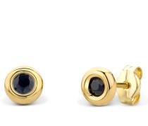 Ohrringe 14KT Saphire Earring Yellow Gold