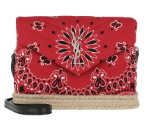 Umhängetasche Loulou Toy Bag Bandana Fabric Red rot