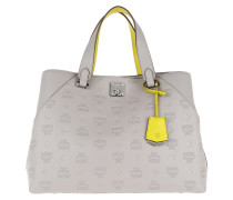 Essential Monogrammed Leather Tote Large Dove Tote