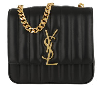 Vicky Chain Bag Leather Black Tasche