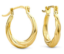 """Ohrringe Creole Earrings """"The Happy One"""" 14KT Yellow Gold"""
