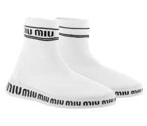 Sneakers Sock Trainers White/Black weiß
