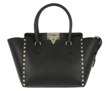 Rockstud Small Leather Tote Black Tote