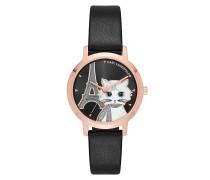 Camille Choupette Appliqué Watch Black Uhr
