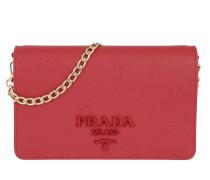 Monochrome Small Crossbody Bag Saffiano Fuoco Tasche