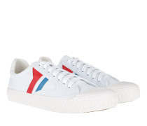 Plimsole Sneaker Canvas White/Blue/Red Sneakers