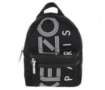 Rucksack Nylon With Sport Logo Print Backpack Black schwarz