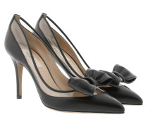 Pointed Pumps Leather Black Pumps