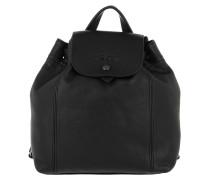 Rucksack Le Pliage Backpack XS Leather Black schwarz