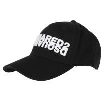 Caps Mirrored Logo Baseball Cap Black/White