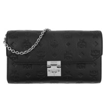 Millie Leather Wallet Medium Flap Crossbody Bag Black Tasche