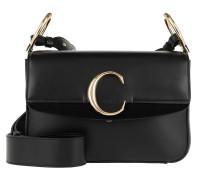 Umhängetasche Double Carry Small Shoulder Bag Leather Black schwarz