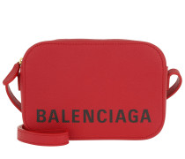 Umhängetasche Ville Camera Bag XS Leather Red rot
