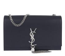 YSL Monogramme Medium Chain Bag Navy Tasche