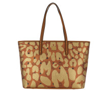 Anya Leopard Print Top Zip Shopper Medium  Shopper
