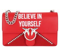 Love Believe In Yourself Shoulder Bag Rosso Marte Satchel Bag