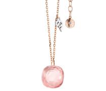 Schmuck Necklace Happy Holi Rose Quartz Cabochon Rosegold roségold