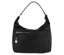 Hobo Bag Lotus Hobo Bag Black/Nickel schwarz