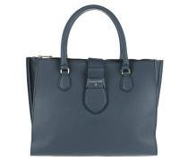 Locked Handle Bag Steel Azure\Nero Tote