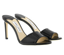 Stacey 85 Mules Leaher Black Sandalen