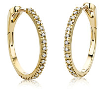 Ohrringe 0.18ct Diamond Creole Earring 18KT Yellow Gold