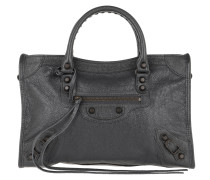 Classic City Tote Small Arena Leather Grey Tasche