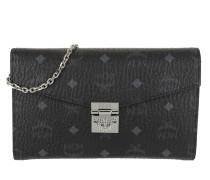 Umhängetasche Patricia Visetos Continental Crossbody Wallet Large Black schwarz
