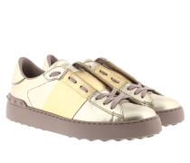 Bicolor Rockstud Sneaker Platino Sneakers