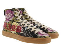 Florale Jacquard-High-Top-Sneakers Multicolor Sneakers