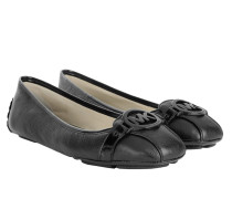Fulton Mocassin Leather Black Ballerinas