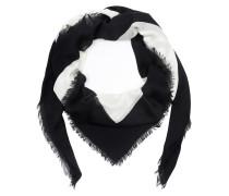 Mystic Cat Print Modal Silk Shawl Ivory/Black Schal weiß