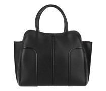 Sella Large Tote Leather Calf Leather Black Tote