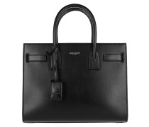 Sac De Jour Tote Leather Black/Dirty White Tote