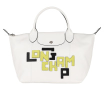Tote Le Pliage S Leather White weiß