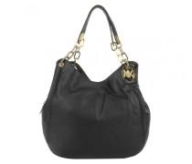 Fulton LG Shoulder Tote Black Hobo Bag
