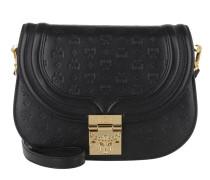 Trisha Messenger Leather Shoulder Small Black Tasche