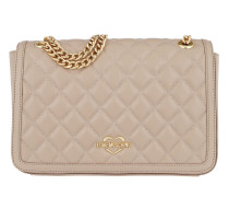 Quilted Nappa Chain Crossbody Bag Tortora Tasche