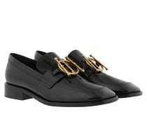 Schuhe Flat Slippers Black schwarz