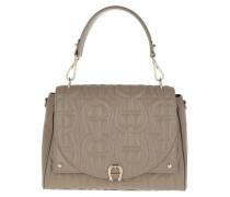 Satchel Bag Diadora M Handle Bag Taupe grau