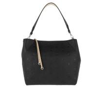 Hobo Bag Klara Mini Leather Hobo Medium Black schwarz
