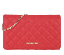 Quilted Nappa Chain Crossbody Bag Rosso Tasche