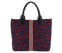 Boccanera Handle Bag Pizzo Blue/Rosso Tote rot
