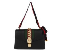 Sylvie Leather Shoulder Bag Nero Shopper