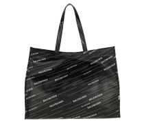 Shopper Balenciaga Stunning Tote Leather Black/White 2 schwarz