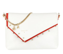 Contrasting Chain Crossbody Bag White\DeepOrange Tasche